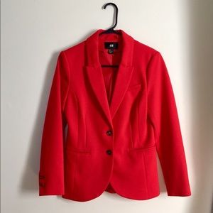 H&M Red Blazer Jacket